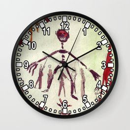Scene Drawing from Ubu Roi Wall Clock
