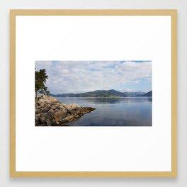 Silent Lake Framed Art Print