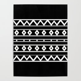 Black White Tribal Poster