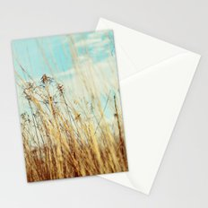 a winter field Stationery Cards