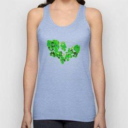 Green Heart Unisex Tank Top