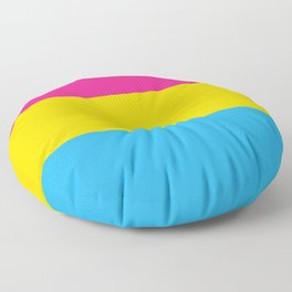 Pansexual Pride Flag Floor Pillow