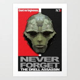 NEVER FORGET - Thane Krios - Mass Effect Art Print