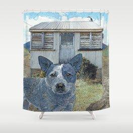 Blue Heeler Shower Curtain