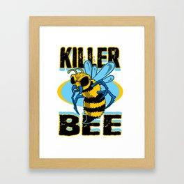 Bee Bees Honey Insekt Beekeeping Beehive Wasp Gift Framed Art Print