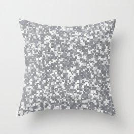 Sharkskin Pixels Throw Pillow