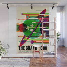 NASA Outer Space Saturn Shuttle Retro Poster Futuristic Explorer Wall Mural