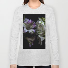 Floral bouquet. Purple and white flowers. Long Sleeve T-shirt