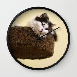 Cat Tree Wall Clock