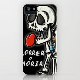 correr o morir iPhone Case