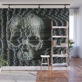Analogue Glitch Jawless Skull Wall Mural