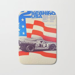 Vintage USA Racing Poster Bath Mat