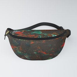 Grunge abstract acrylic painting Fanny Pack