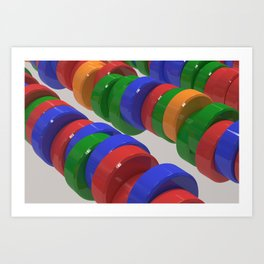 Colorful cylinders Art Print