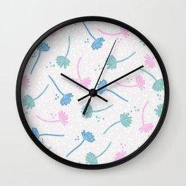 Falling Flowers 2 Wall Clock