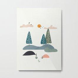 Minimalist Landscape Art III Metal Print
