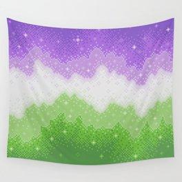 Genderqueer Pride Galaxy Wall Tapestry