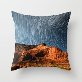 Stars on the Cliffside Throw Pillow