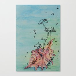 Ocean Fungi Party: Fourth Canvas Print