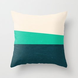 Stripe II Fresh Mint Throw Pillow