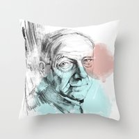 queens of the stone age Throw Pillows featuring Age by Strange Design