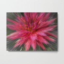 170 - crazy digital flower Metal Print