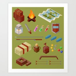 Adventure Gear Art Print