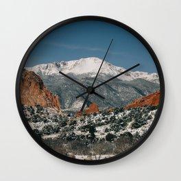 Snowy Mountain Tops Wall Clock