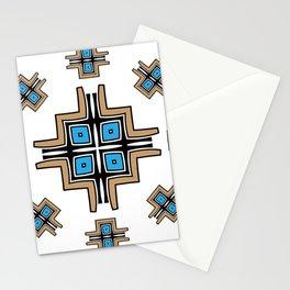 aztec cross mandala Stationery Cards