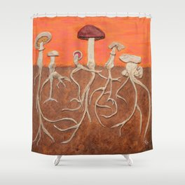Laughing Shrooms Shower Curtain