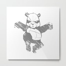 Sketch panda martial arts Metal Print