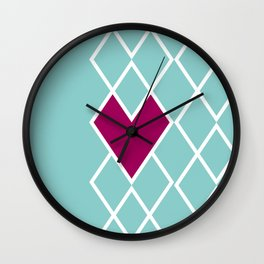 Heart in the Stripes Wall Clock