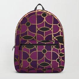 Art Deco Small Purple Dreams Backpack