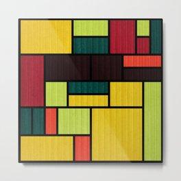 Mondrian Bauhaus Pattern #09 Metal Print