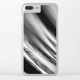 Extreme Macro image of tiny structures of a feather Clear iPhone Case