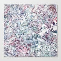Canvas Prints featuring Mexico map by MapMapMaps.Watercolors