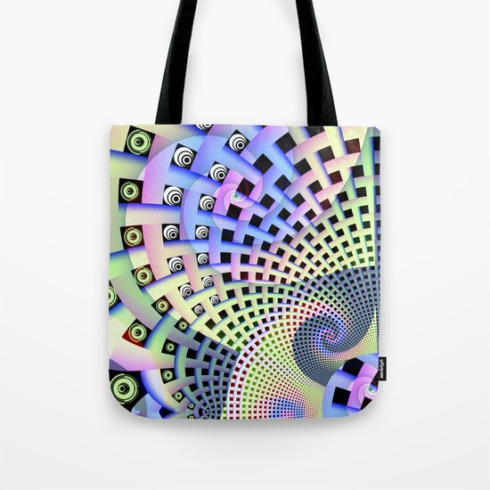 Spinning Abstract Tote Bag