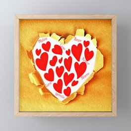Love in languages Framed Mini Art Print