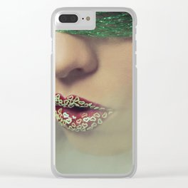 Smoke & Fishnets Clear iPhone Case