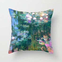 water lilies : Monet Throw Pillow