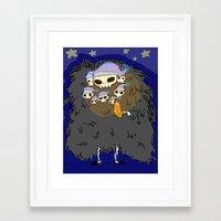 dark souls Framed Art Prints featuring Dark Souls- Goodnight Nito by Mango Mamacita