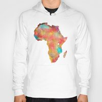 africa Hoodies featuring Africa by jbjart