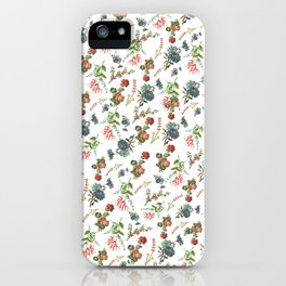 Antique Floral Pattern iPhone Case