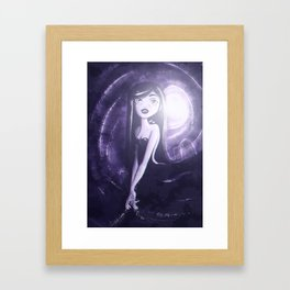 Purple Monochrome Framed Art Print