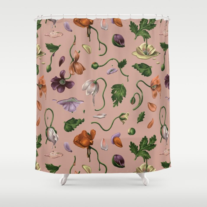 Melting Poppies Shower Curtain