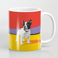 terrier Mugs featuring Boston terrier by Matt Mawson