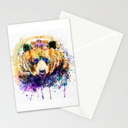 Colorful Grizzly Bear Stationery Cards