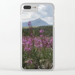 Mountain wildflowers Clear iPhone Case