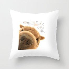 Corious Shar Pei Dog Throw Pillow
