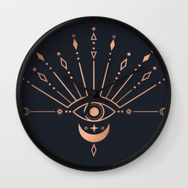 The Peacock Eye Wall Clock